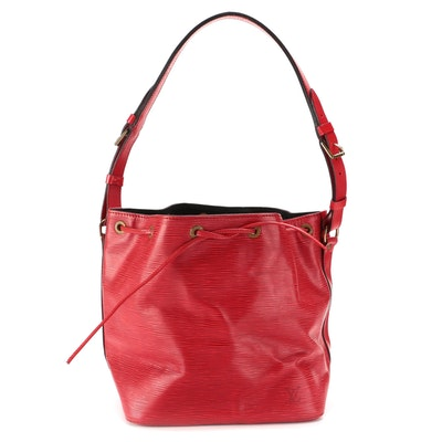 Louis Vuitton Petite Noé Bucket Bag in Red Epi Leather