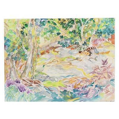 "Sheila Bonser Watercolor Painting ""Mallard,"" 21st Century"