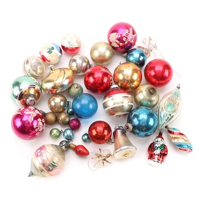 Shiny Brite Glass Ornaments with Reflector Ornament and Other Holiday Ornaments