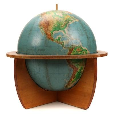 "Cartocraft Physical-Political 16"" Globe, Mid 20th Century"