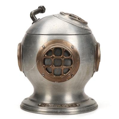"""Pentertone Olde Cankardware """"U.S.S. Gibley's"""" Diver's Helmet Ice Bucket, 1970s"""