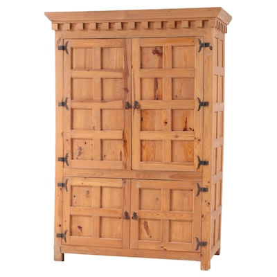 Spanish Colonial Style Pine Media Cabinet