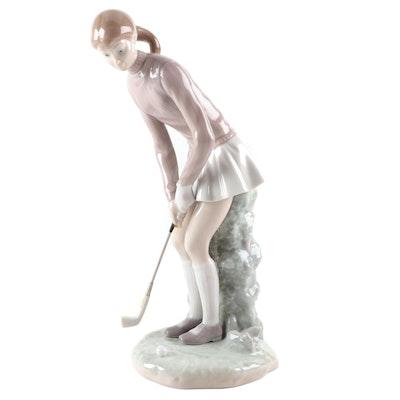 """Lladró """"Golf Player"""" Porcelain Figurine Designed by Vicente Martínez"""