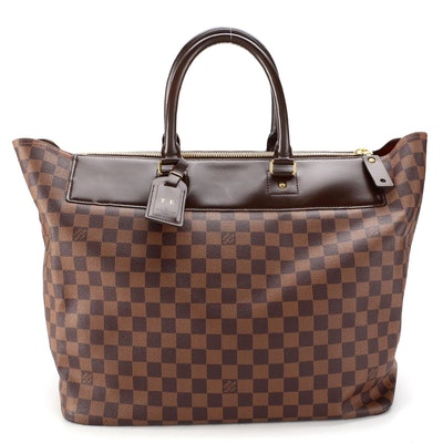Louis Vuitton Greenwich Travel Bag in Damier Ebene Canvas and Nomade Leather