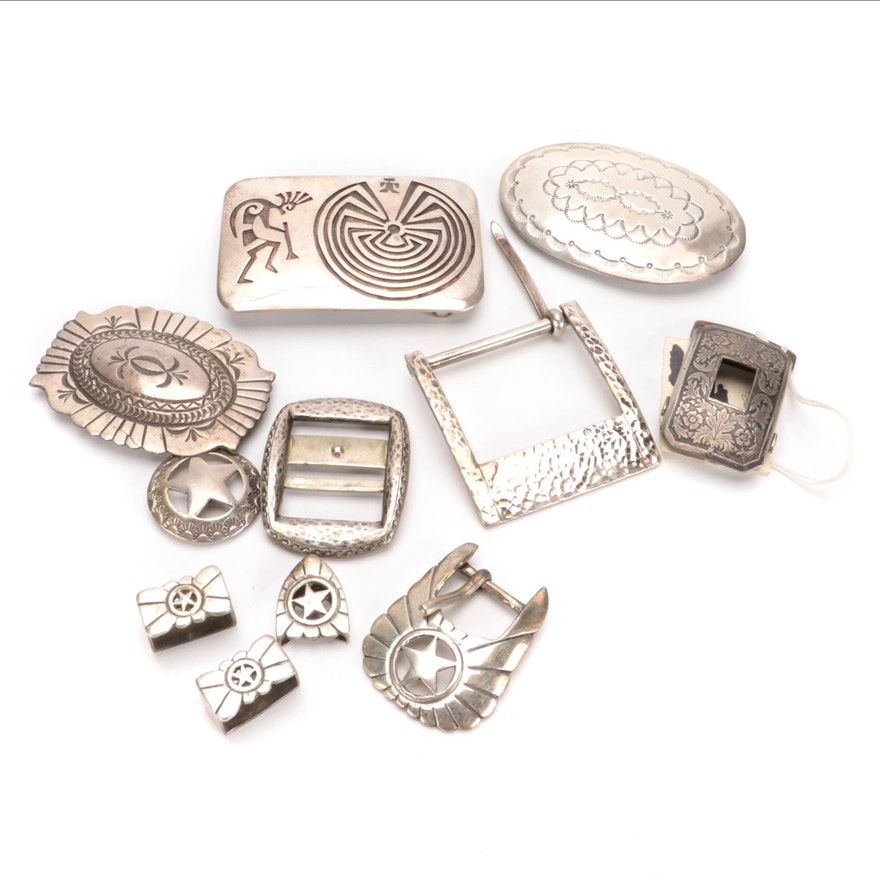 Sterling Silver Southwestern Buckles and More with Other Metal Buckle