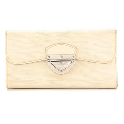 Louis Vuitton Eugenie Wallet in Ivorie Epi and Smooth Leather