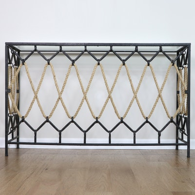 """Uttermost """"Darya"""" Iron, Glass and Rope Console Table"""