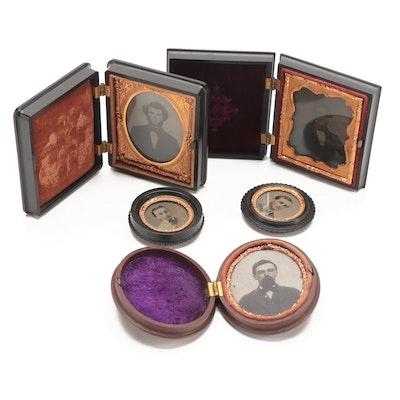 Daguerreotype and Ambrotype Portraits in Gutta-Percha Cases