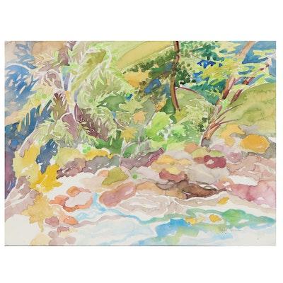 "Sheila Bonser Watercolor Painting ""Mixed Greens"""