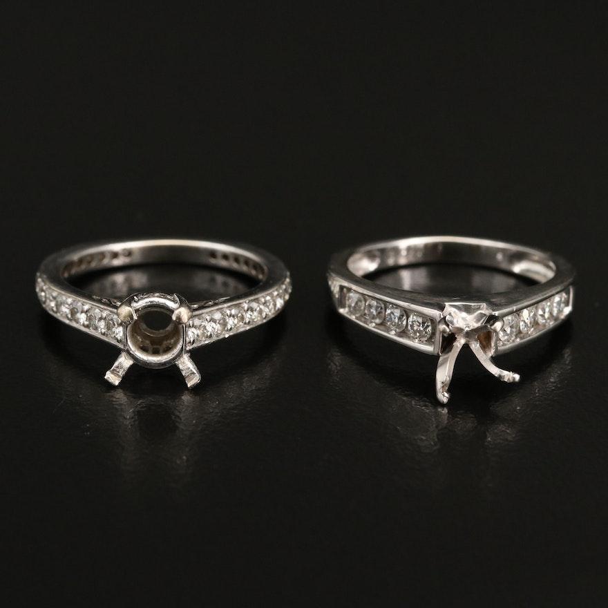 14K Diamond Semi-Mount Rings