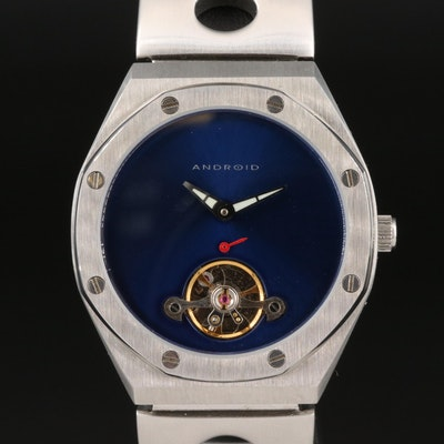 Android Octagon Open Heart Stainless Steel Automatic Wristwatch