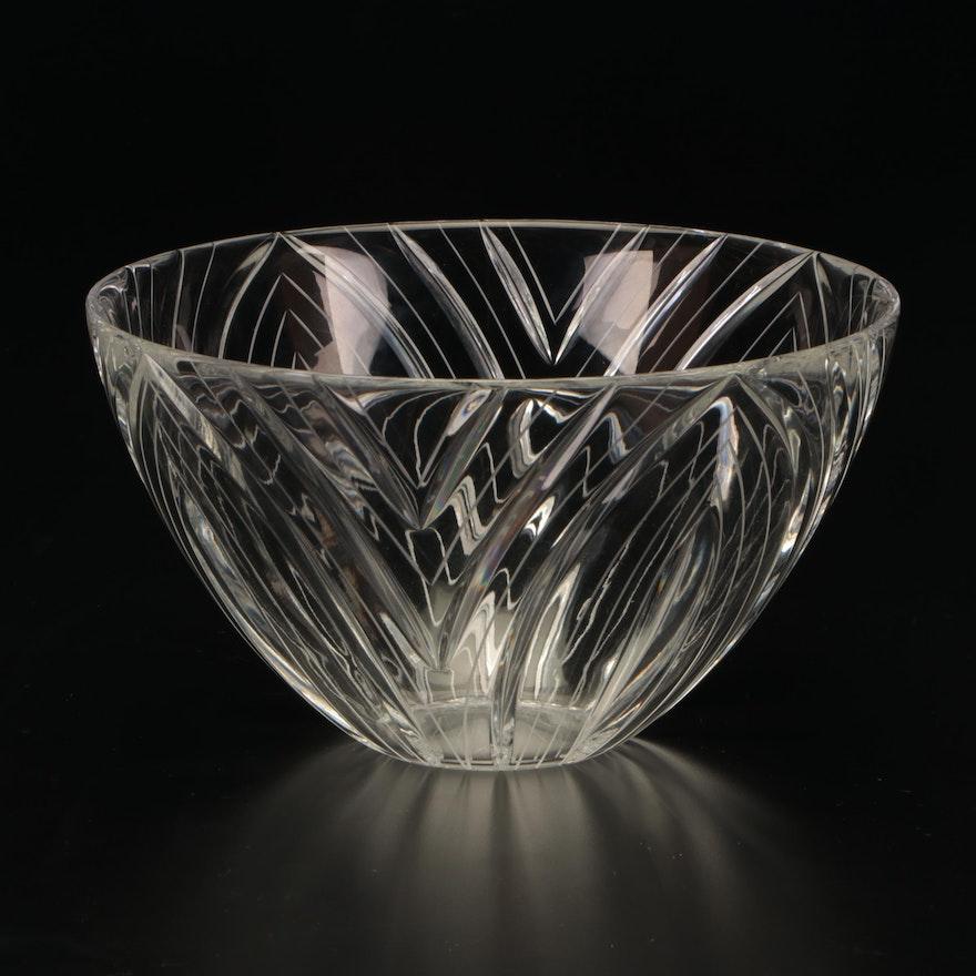 Crystal Centerpiece Bowl, Contemporary
