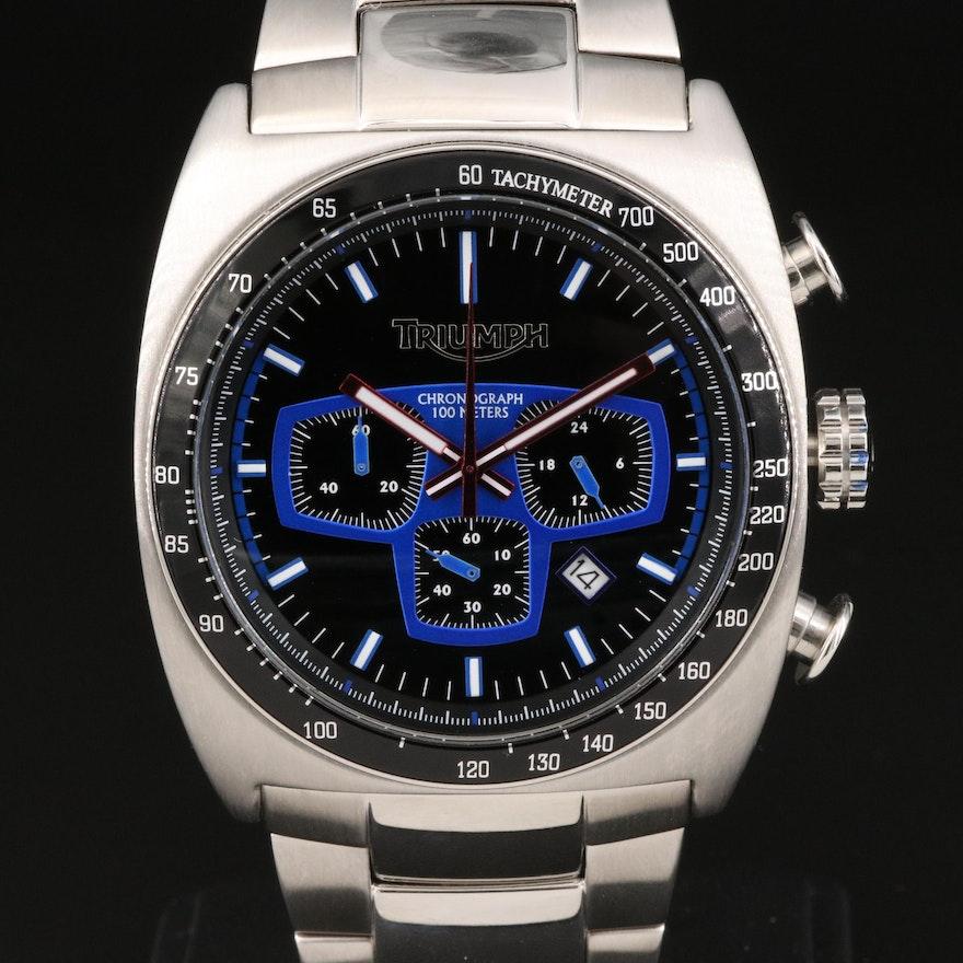 Triumph Motorcycles Chronograph Stainless Steel Quartz Wristwatch