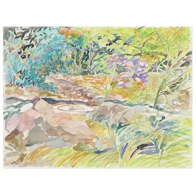 "Sheila Bonser Watercolor Painting ""Lone Pool"""