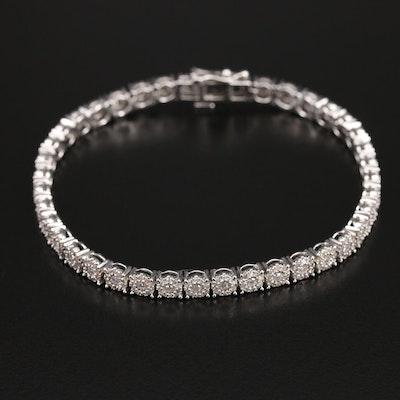 10K 2.00 CTW Diamond Line Bracelet