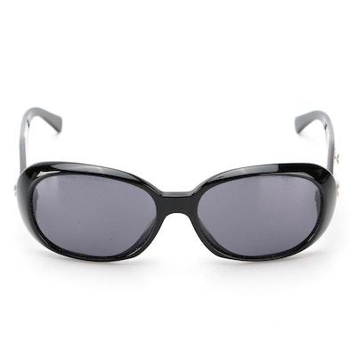 Chanel Camellia CC 5113 Black Sunglasses with Case