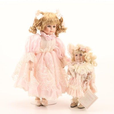 """""""Tiffany"""" by Phyllis Arkins Porcelain Doll and Seymour Mann Porcelain Doll"""