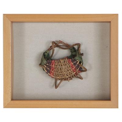 Handwoven Polychrome Miniature Basket