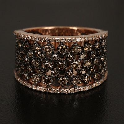 14K ROSE GOLD DIAMOND, ESPRESSO DIAMOND, RING