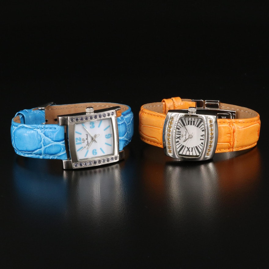 Lucien Piccard Citrine and Iolite Wristwatches