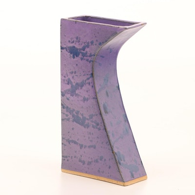 Contemporary Glazed Earthenware Studio Pottery Vase