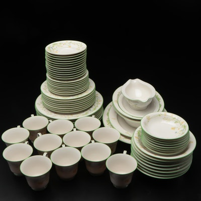 """Japanese Noritake """"Reverie"""" China Dinnerware and Serving Pieces, Late 20th C."""