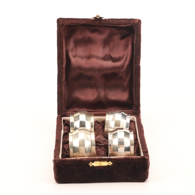 Indian Polished Metal Napkin Rings with Case