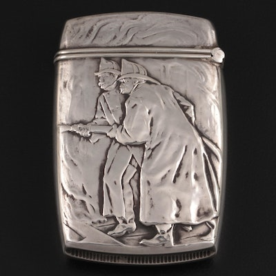 Wm. B. Kerr and Co. Sterling Silver The Home Insurance Company Pocket Vesta Case