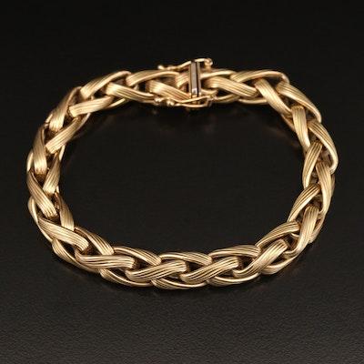 Italian 14K Wheat Link Bracelet