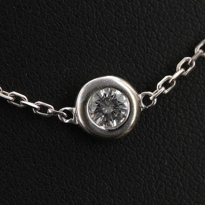14K 2.26 CTW Diamond Bezel Station Necklace