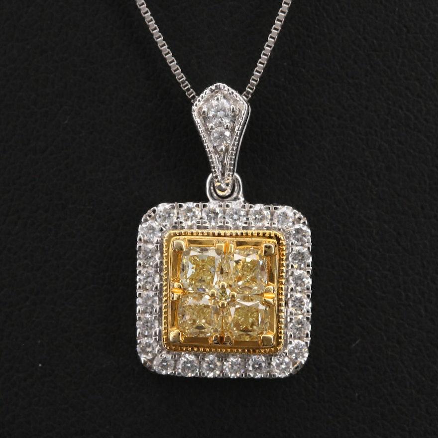 14K 1.37 CTW Diamond Pendant Necklace