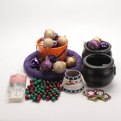 Halloween Candy Bowls and Decor