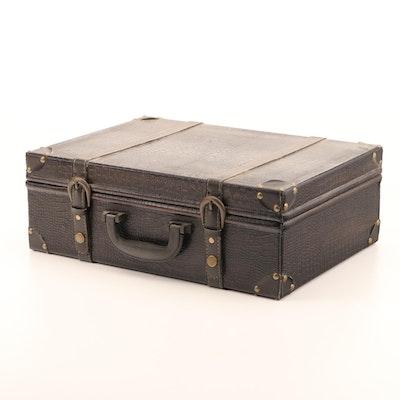 Faux Alligator Suitcase-Shaped Box