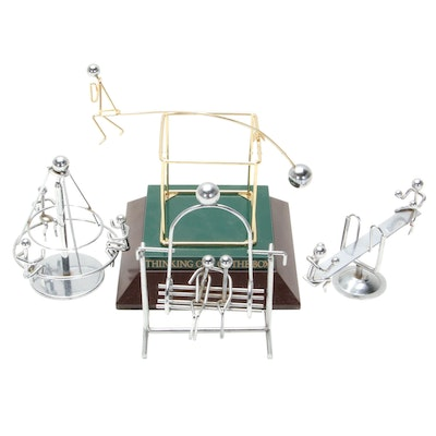 """Kinetic Metal Sculptures """"Thinking Out of the Box"""" and Playground Equipment"""
