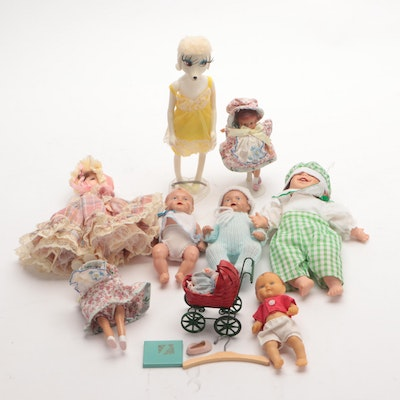 Plastic Miniature Doll Collection
