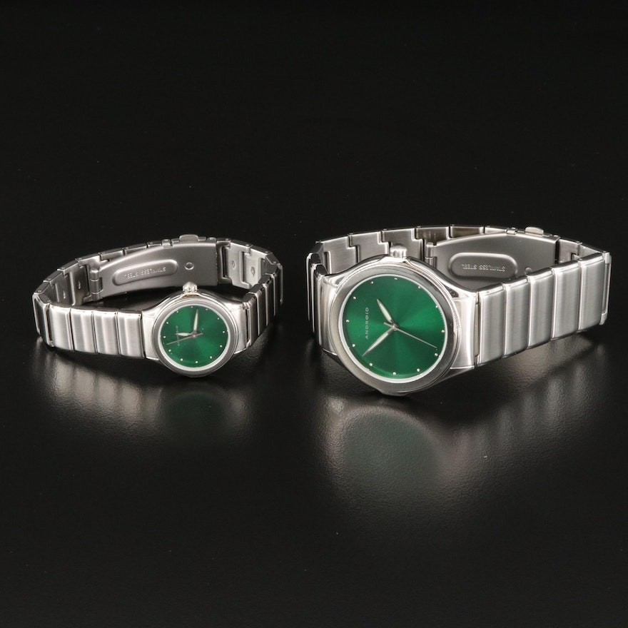 Android Stainless Steel Wristwatches