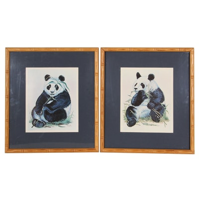 Offset Lithographs of Pandas, Late 20th Century