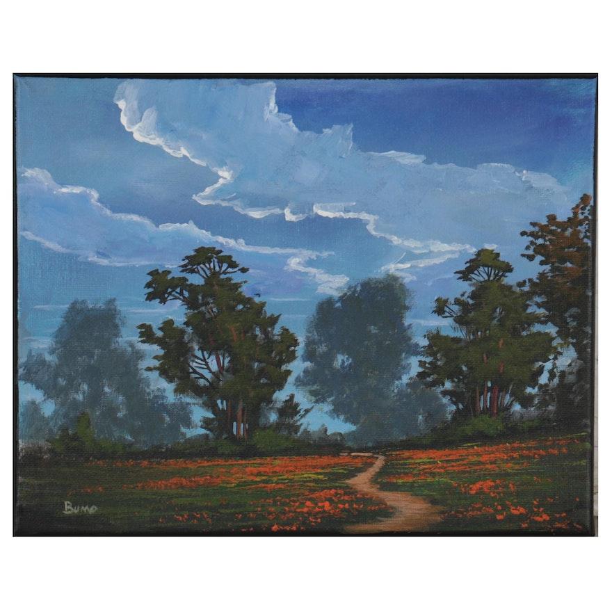 """Douglas """"Bumo"""" Johnpeer Landscape Oil Painting, 2021"""