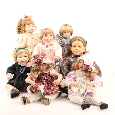 """Danbury Mint """"Christmas Eve"""" Porcelain Doll and Others"""