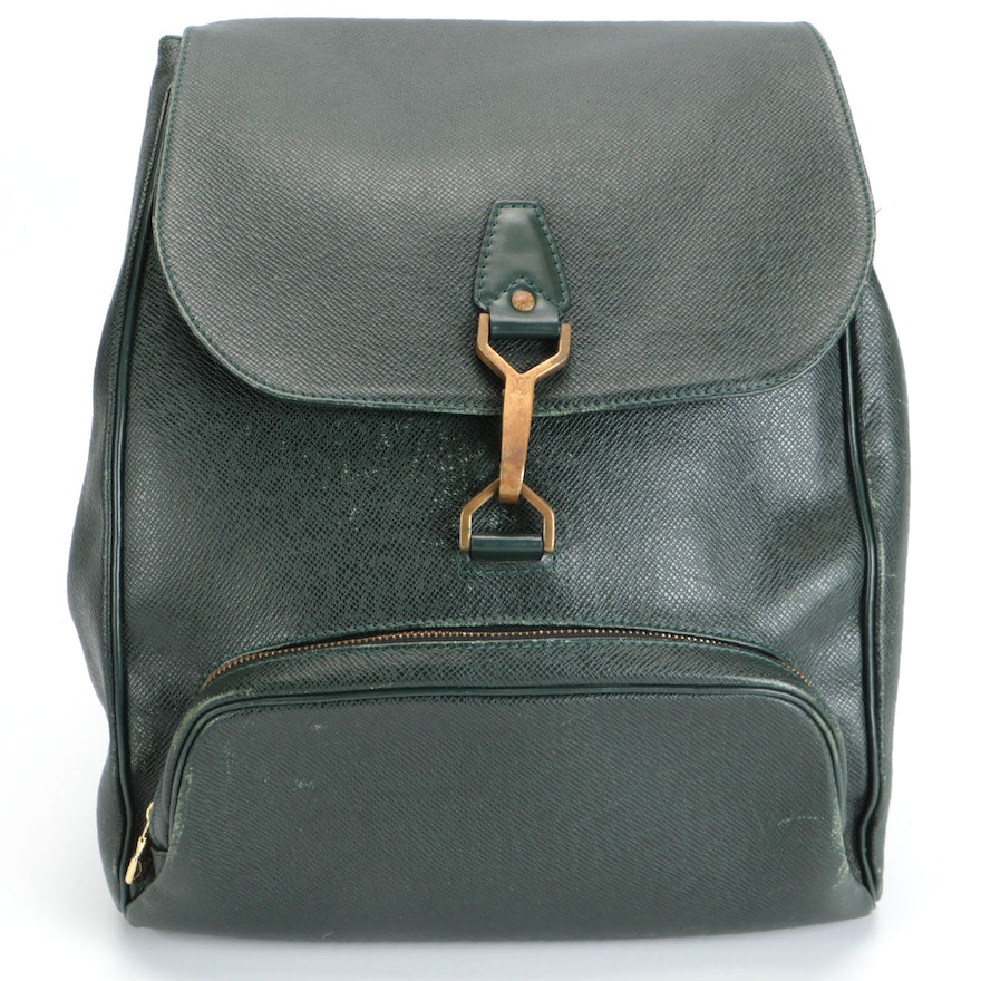 Louis Vuitton Cassiar Backpack in Épicéa Taïga and Smooth Leather