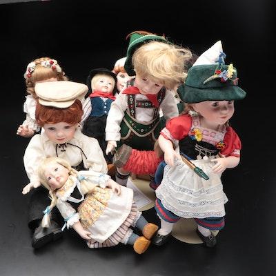 Nancy Leslie Porcelain Travel and Other Dolls