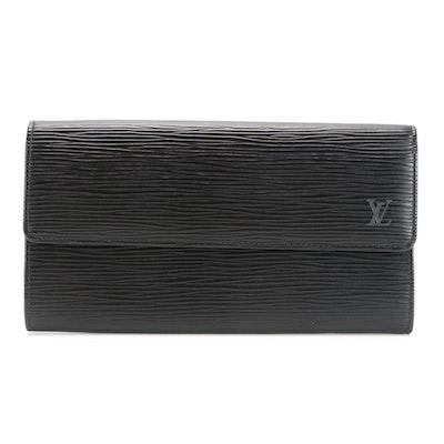 Louis Vuitton Sarah Continental Wallet in Black Epi Leather