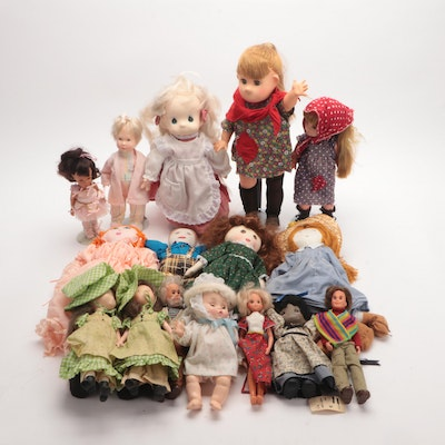 Fabric and Plastic Doll Collection