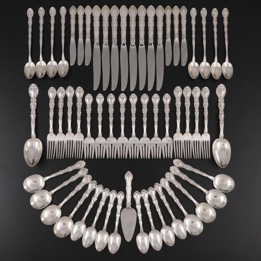 """Alvin """"French Scroll"""" Sterling Silver Flatware and Serving Utensils, 1953–1991"""