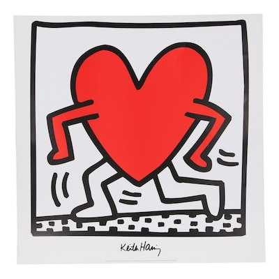 Offset Lithograph After Keith Haring