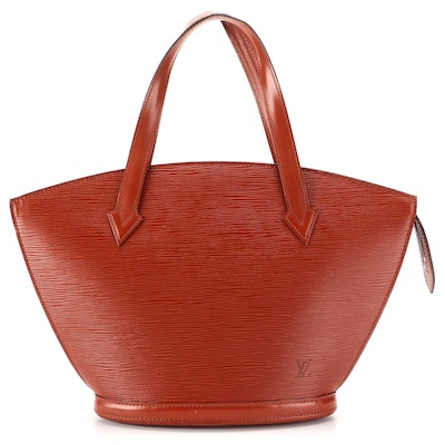 Louis Vuitton Saint Jacques PM Bag in Kenyan Fawn Epi and Smooth Leather