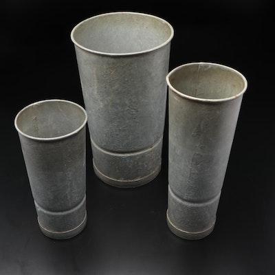 Galvanized Metal Flower Buckets