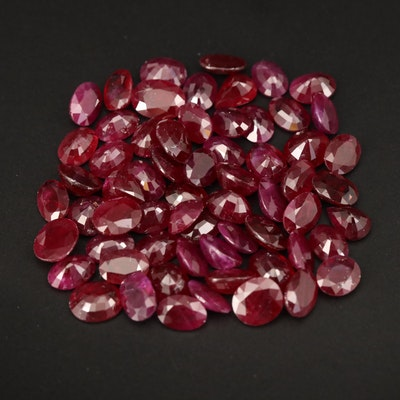 Loose 66.15 CTW Mixed Faceted Ruby