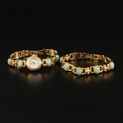 Elgin Serpentine Wristwatch with Matching Bracelet