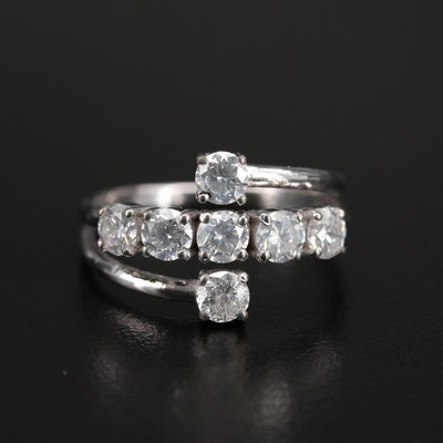 14K 1.22 CTW Diamond Spiral Ring
